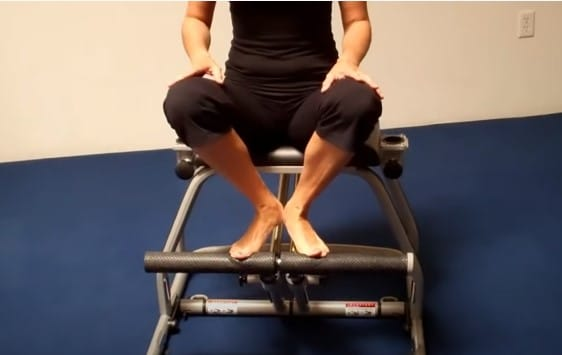 Step #1 parallel dips pilate chair
