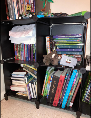 high capacity bookshelf capability of 15 lbs