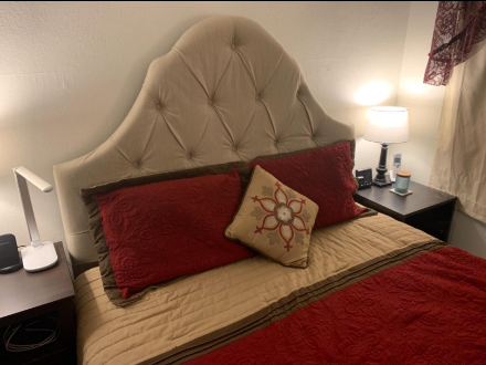 headboard offers nothing fancy, but whatever comes with it is pretty solid